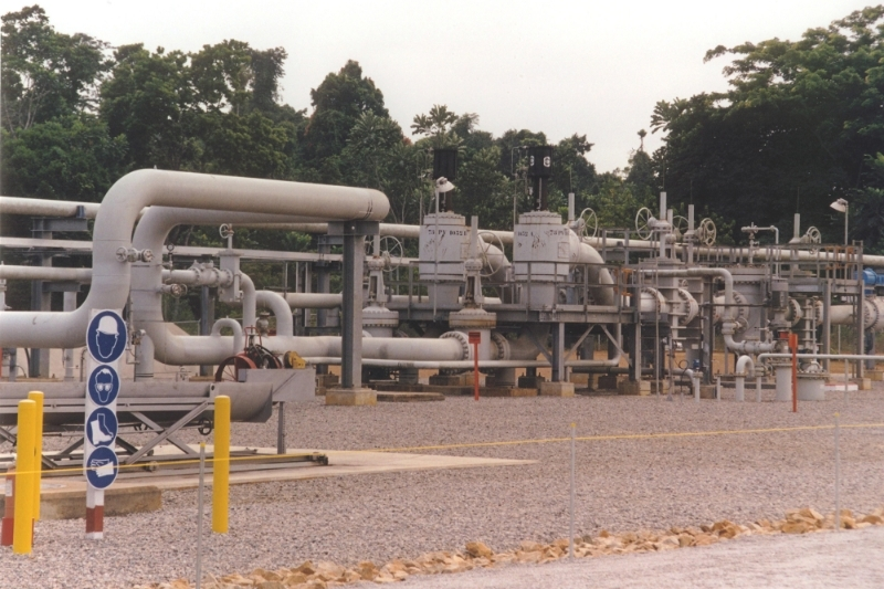 The Chad-Cameroon pipeline, which connects the Doba oil fields to the port of Kribi.
