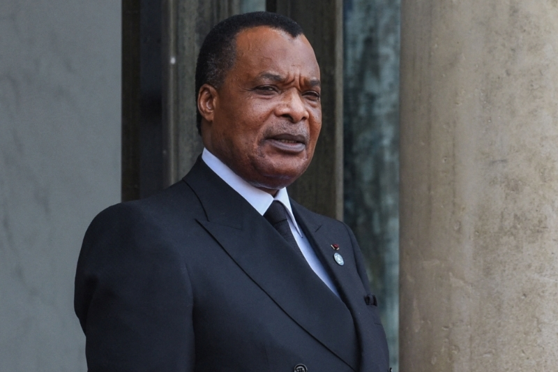 Congolese president Denis Sassou Nguesso.