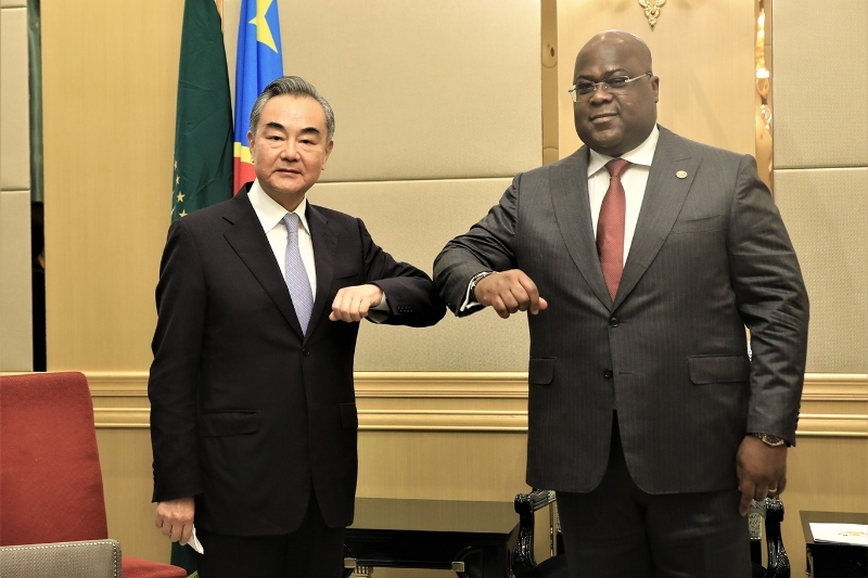 DRC's President Felix Tshisekedi meets with visiting Chinese State Councilor and Foreign Minister Wang Yi in Kinshasa.