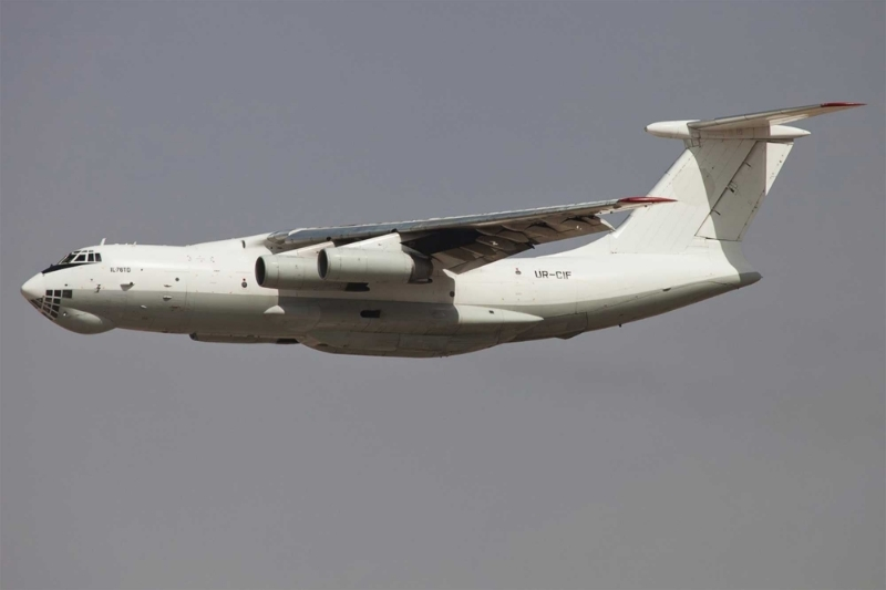One of the Zetavia Il-76TD large cargo planes delivering Emirati medical aid to the Horn of Africa.