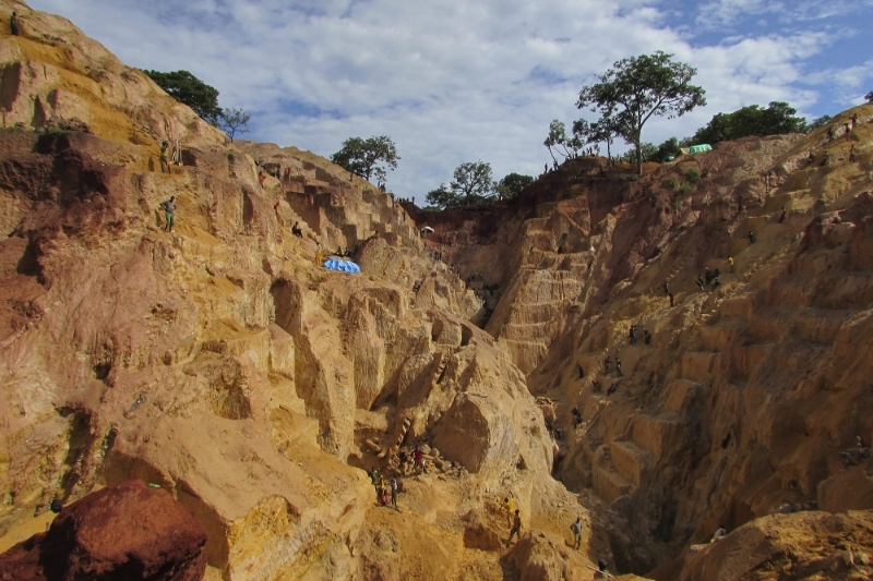 The Ndassima gold mine in the Central African Republic.