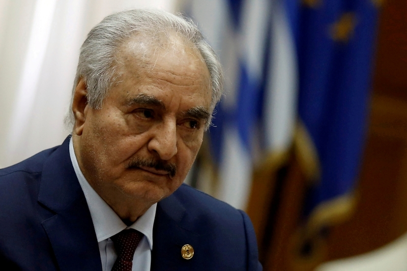 General Khalifa Haftar, head of the Libyan National Army.