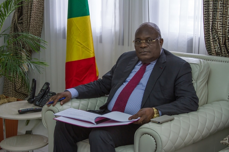 DRC Minister of Finance Calixte Nganongo.