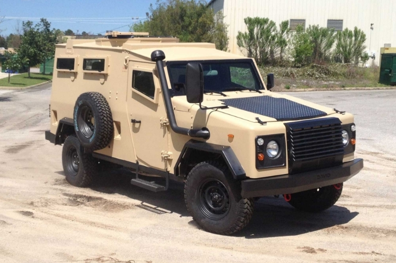 A David-type armoured personnel carrier manufactured by MDT Armor.