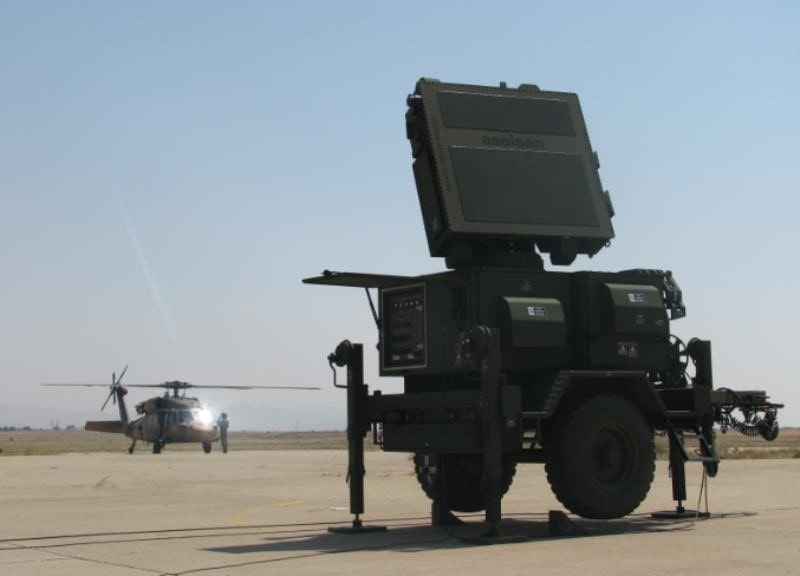 Mobile radar Kalkan-II made by Turkey's Aselsan.
