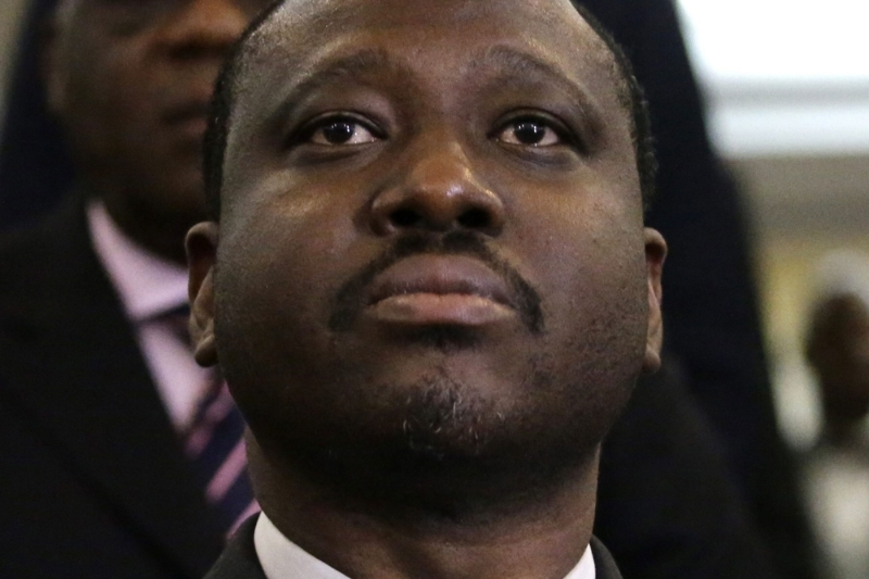 The Ivorian opposition leader Guillaume Soro.