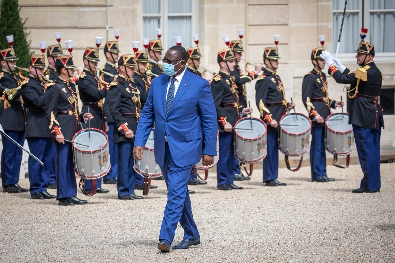 Senegalese President Macky Sall during his visit to France on 26 August, 2020.