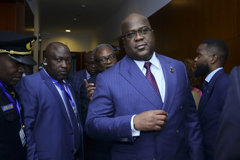 Congolese President Félix Tshisekedi at the African Union summit in Ethiopia in February 2020.