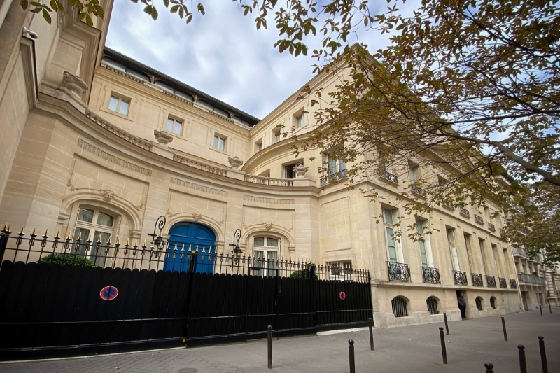 The new house of king Mohammed VI in Paris.