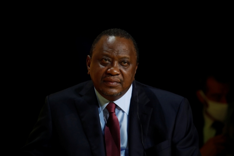 Uhuru Kenyatta made two short and discreet stops in Cairo.
