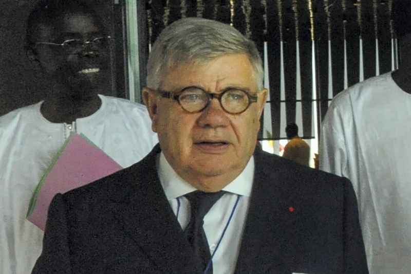 The businessman Jean-Yves Ollivier, the head of the Brazzaville Foundation.