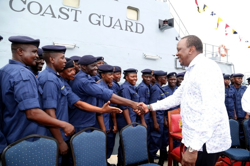 President Kenyatta launched the coast guard service in november 2018.