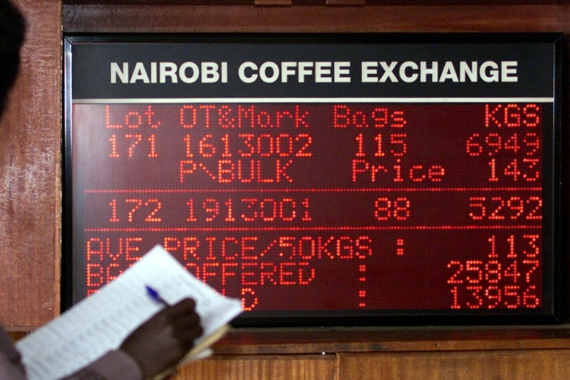 The Nairobi Coffee Exchange.