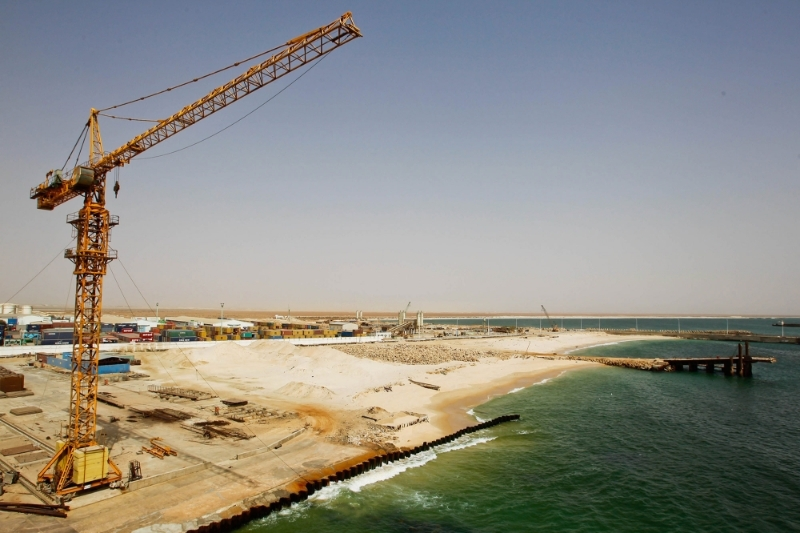 The port of Nouakchott.