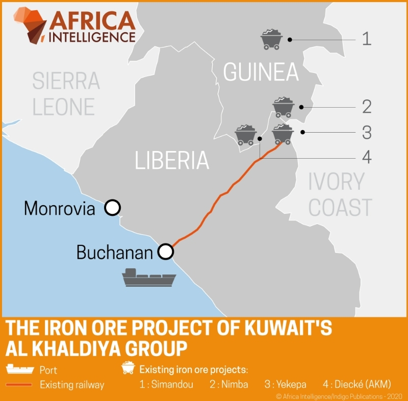 The iron ore project of Kuwait's Al Khaldiya group.