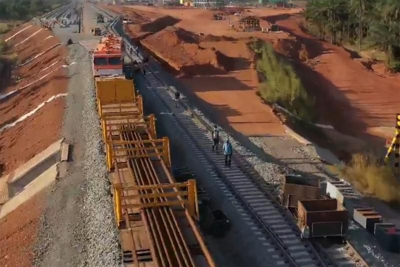 A rail project of Winning Consortium Simandou for the transport of bauxite.