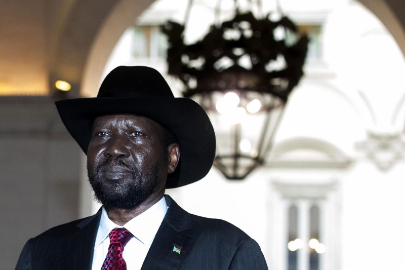 The South Sudanese president Salva Kiir.