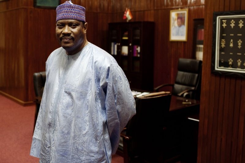 Niger's former prime minister and National Assembly speaker Hama Amadou.
