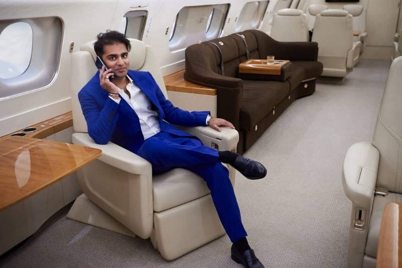 The private jet broker Ameerh Naran.