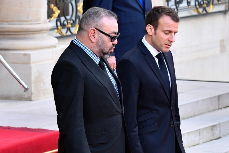 King of Morocco Mohammed VI and French President Emmanuel Macron in 2018.