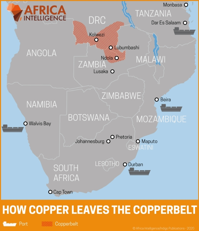 How copper leaves the Copperbelt